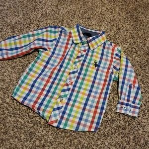 3/$12 Polo plaid button up